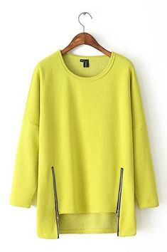 Casual Fleece Lined Solid Color Long Sleeve High-Low Sweatshirt For Women Look Fashion, Hijab Fashion, Fashion Outfits, Fashion Design, Mode Top, How To Wear Leggings, Clothing Sites, Mode Hijab, Knitwear