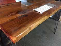 25% SALE!  Reclaimed Wood Desk - modern mid century, industrial, rustic by UmbuzoRustic on Etsy https://www.etsy.com/listing/224028357/25-sale-reclaimed-wood-desk-modern-mid