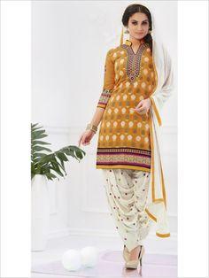 Yellow Party Wear Art Silk Suit