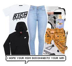 """RICH ."" by beautifulme078 ❤ liked on Polyvore featuring CO, Fresh, Joyrich, Sennheiser, Victoria's Secret, MCM, NIKE, Retrò and Bobbi Brown Cosmetics"