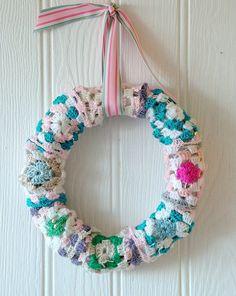 Granny square wreath