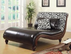 chaise lounge brown zebra