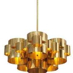 """Image of Curtis Jere 1975 """"Clouds"""" Chandelier, Signed"""