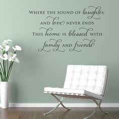 'family and friends' wall sticker quote by making statements | notonthehighstreet.com