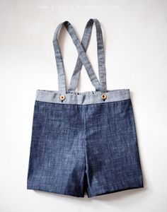 Overalls. Easy enough to make, using up aldult jeans and scraps