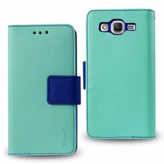 Reiko Samsung Galaxy J3 3 In 1 Wallet Case With Interior Leather- Like Material & Polymer Cover In Green