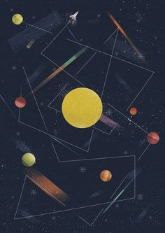 Various Illustrations Early 2014 by Dan Matutina - Manila, Philippines | Illustration | Graphic Design | Geometric | Moon | Universe |