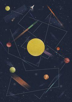 Various Illustrations Early 2014 by Dan Matutina - Manila, Philippines | Illustration | Graphic Design | Geometric | Moon | Universe |