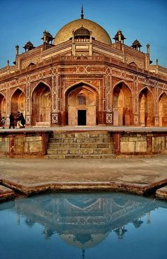 Humayun's Tomb, Delhi, india was built in 1570, is of particular cultural significance as it was the first garden-tomb on the Indian subcontinent.  It inspired several major architectural innovations, culminating tin the construction of the Taj Mahal. An UNESCO World Heritage Site since 1993.