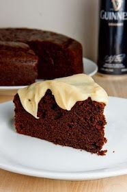 Chocolate Stout Cake with Baileys cream cheese icing