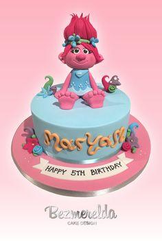 Trolls movie themed cake - Made by Bezmerelda