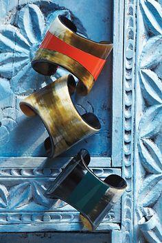 horn cuffs. nice styling!!