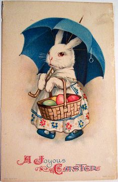 Vintage Easter Bunny! How adorable