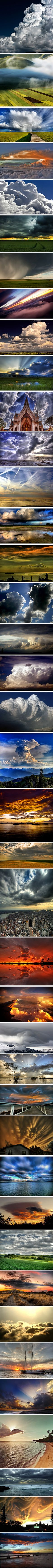 Mostly cumulus in various stages of life. Beautiful.