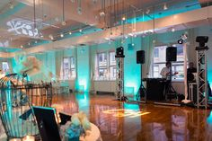 Wedding setup at the Midtown Loft & Terrace venue