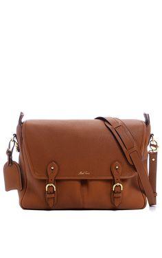 Mark Cross Messenger Bag in Pebble Grain Leather by Mark Cross $1995
