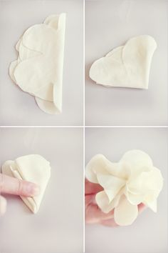 A really easy fabric flower clip idea-just ignore the birdcage part