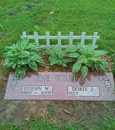 oh i love this idea! maybe at the foot of mom;s grave