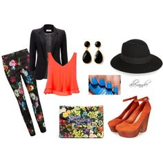 """orange"" by allexanndre on Polyvore"