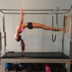 """Big stretching ! Your body is your temple!"" #Pilates #Cadillac (via Izabel Goulart instagram)"