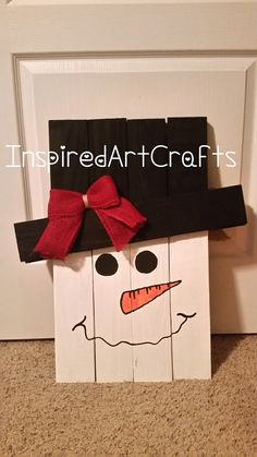One-Sided Wooden Snowman by InspiredArtCrafts on Etsy