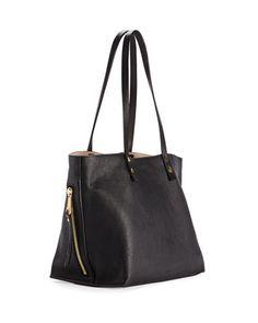 Chloe Dilan East-West Leather Tote Bag, Black