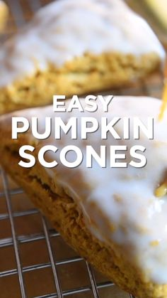 These pumpkin scones are the best. We add lots of pumpkin and fall spices to the dough and they have not one but two glazes. One is a simple white glaze and the other a pumpkin spice glaze that gets drizzled on top. Pumpkin Recipes, Fall Recipes, Apple Cinnamon Scones Recipe, Baking Recipes, Dessert Recipes, Homemade Scones, Pumpkin Spice, Spiced Pumpkin, Biscuits