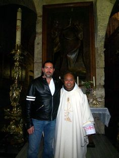 Caviezel | Father Angelo with Jim Caviezel, (the actor from the movie The Passion ...