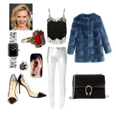 A fashion look from August 2016 featuring lace camisoles, fur coat and white jeans. Browse and shop related looks. Givenchy, Gucci, Manolo Blahnik, Alexander Mcqueen, Chanel, Shoe Bag, Polyvore, Stuff To Buy, Shoes