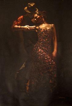 Art painting Tango dance wonderful by Hamish Blakely