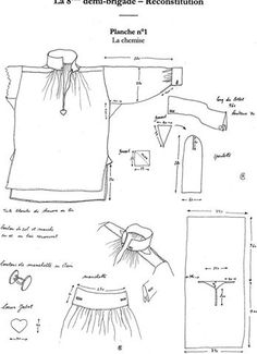 Costume Patterns, Dress Patterns, Sewing Patterns, Renaissance Shirt, Renaissance Clothing, Medieval Costume, Folk Costume, Costumes, Historical Costume
