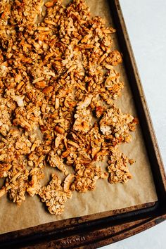 Coconut almond granola -- finally, a crunchy granola that clumps that's also low in sugar, vegan, gluten-free and absolutely delish!