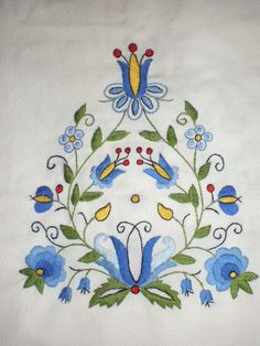 Description:Material: Cotton Linen, Bamboo Embroidery HoopSize: Diameter As the picture showQuantity: 1 x embroidery x needlework x x embroidery x embroidery x embroidery threadsCraft: The embroidery kit contains instructions to teach you how Polish Embroidery, Hungarian Embroidery, Folk Embroidery, Hand Embroidery Patterns, Machine Embroidery Designs, Embroidery Stitches, Folk Art Flowers, Polish Folk Art, Antique Quilts