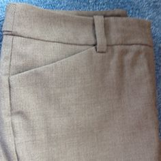 "Ann Taylor dress pant brown Pant with belt loops, back waistband button detail, fake back pockets, front pockets. Tag says dry clean. have been machine washed successfully. Top of zipper to crotch is 8"", inseam is 30 1/4"", hem width is 20 1/2"". Size is Curvy 4. Gently worn. Ann Taylor Pants"