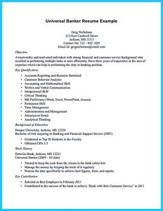 nice one of recommended banking resume examples to learn