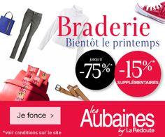 Coupon de remise #LesAubaines : - 15 % de réduction supplémentaires sur tout le site  - valide sur les produits signalés par l'étiquette Fleur. http://www.coupon-promo.fr/reduction-Les-Aubaines-i255.html