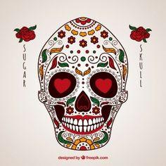 Crânio mexicano ornamental