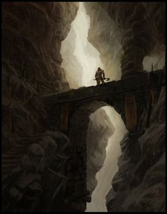The great challenge Picture (2d, fantasy, warrior, landscape)