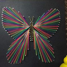 Nails and Strings Art Butterfly String Art, Butterfly String Art Sign, Unique String Art Wood, Handmade Butterfly String Art Wall Decoration Wall Art, Christmas Gift Mothers Day Gift Kids GiftThis rustic String Art will make a great addition to your String Art Diy, String Crafts, String Art Heart, Heart Art, Art Christmas Gifts, Mother Christmas Gifts, Butterfly Wall Decor, Butterfly Art, Diy Butterfly Decorations