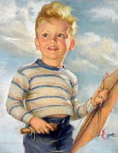 A boy -Ariane Beigneux (1918 – 2011) https://www.amazon.com/Painting-Educational-Learning-Children-Toddlers/dp/B075C1MC5T