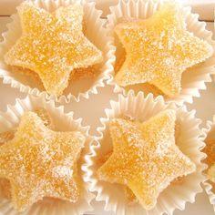 lemon tart sweet candy stars.