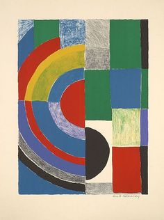 Sonia DELAUNAY (1885 - 1979) JACOB, circa 1968 - by Artcurial - Briest - Poulain - F. Tajan