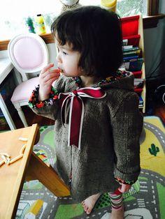 Handmade toddler coat made with organic hand-spun by ikatandme