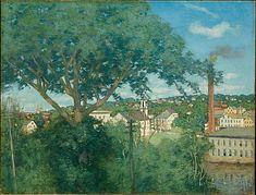 """""""The Factory Village,"""" Julian Alden Weir, 1897, oil on canvas, 29 x 38"""", Metropolitan Museum of Art."""