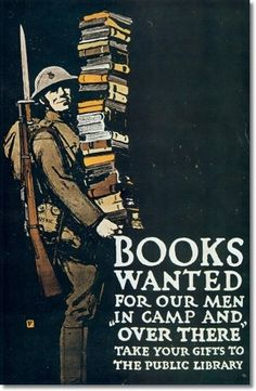 Posters - World War Poster - 053 - Charless Buckles Falls - 1918 - Books Wanted For Our Men Painting
