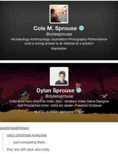 Omg Dylan XD Pokemon enslaver >cole and dylan sprouse< Dylan Sprouse, Sprouse Bros, Dylan O'brien, Cole Sprouse Funny, My Tumblr, Tumblr Posts, Tumblr Funny, Seinfeld, Funny Quotes