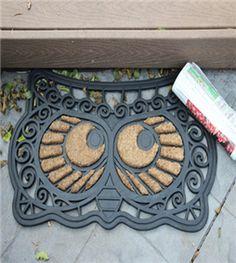 Owl door mat!  Chi O Creations