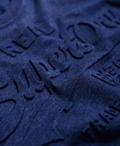 Superdry Vintage Logo Embossed T-shirt Navy