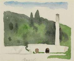 Giorgio Morandi (1890-1964) Paesaggio (Levico) watercolor over pencil on paper 16.1 x 20.9 cm