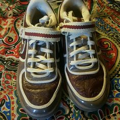 Rare Nike tooled leather with the straps Fun I just need space nike Shoes Athletic Shoes